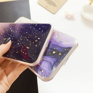 Accessories - NEW iPhone XR Purple and Gold Foil Case